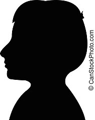 kid head silhouette