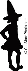 witch girl silhouette
