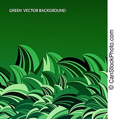 green leaves abstract vector
