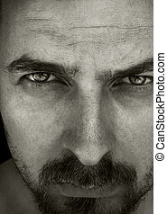 Close-up portrait of masculine guy - Close-up portrait of...