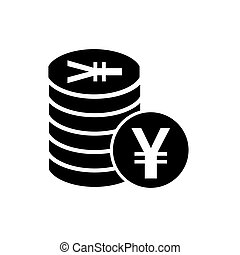 Japanese Yen flat icon for apps and websites - Japanese Yen...
