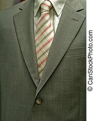 Business suit with an elegant suit with stripes