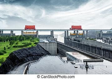 Three Gorges Dam, China - China Yangtze River Three Gorges...