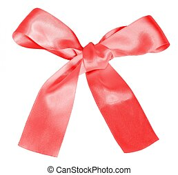 Pink gift bow isolated on white
