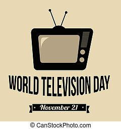 World Television Day retro poster