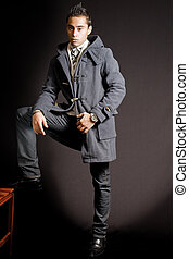 Fashionable young man - Studio portrait of fashionable young...