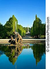 Artesian well in Schonbrunn gardens, Vienna - austrian...