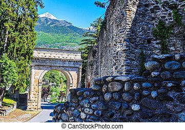 HDR Augustus Arch in Susa - High dynamic range (HDR) Arco di...