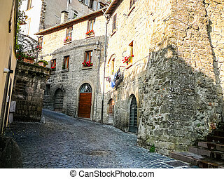HDR View of the city of Viterbo - High dynamic range (HDR)...