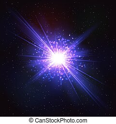 Abstract Shimmering Cosmic Flash Star.