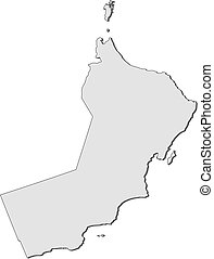 Map - Oman - Map of Oman, filled in gray.