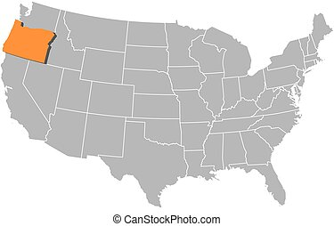 Map - United States, Oregon