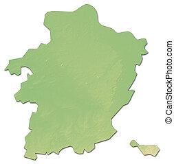 Relief map - Limburg (Belgium) - 3D-Rendering - Relief map...