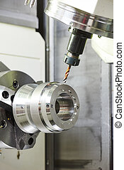 metalworking drilling process - metalworking industry....