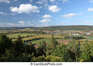 The Werra Valley in Germany