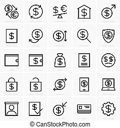 Money and payment icons