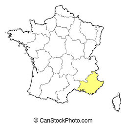 Map - France, Provence-Alpes-Cote d'Azur - Map of France...