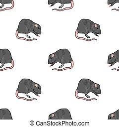 Domestic Rats Seamless Pattern