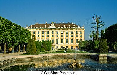 Artesian well in gardens of Schonbrunn palace, Vienna,...