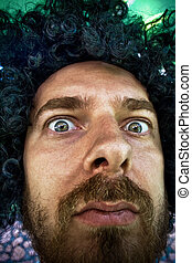 Funny face - Close-up portrait of funny man