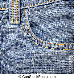 Close up blue jeans for texture background