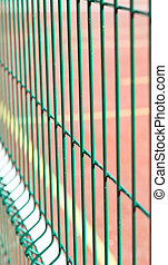 the Industrial fencing - ndustrial fencing made of heavy...