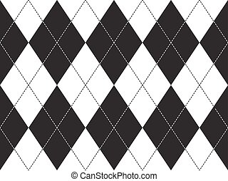 Argyle seamless pattern. Flat design. Vector illustration.
