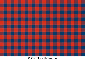 Blue red check seamless background. Vector illustration.