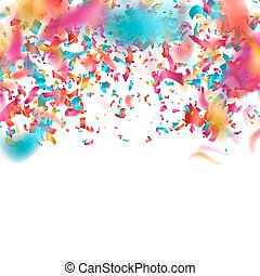 Colorful confetti on white background. EPS 10 vector file...