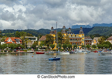 View of Velden, Carinthia, Austria - View of Velden from...