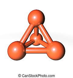 Molecule Structure Brownish-Orange - simple brownish-orange...