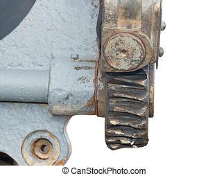 Large cog wheels in the motor - cog wheels in the motor on...