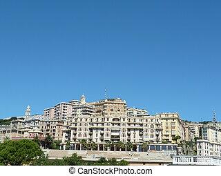 Genova - landscape near the ancient sea genoa