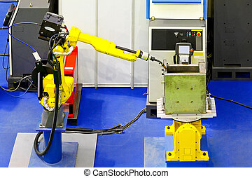 Robotic welder - Automatic robotic arm for metal welding...