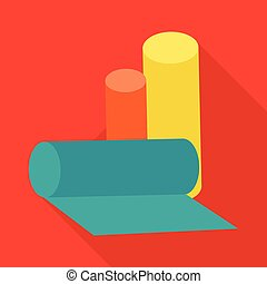 Rolls of Garbage Bags Vector Illustration. - Color rolls of...