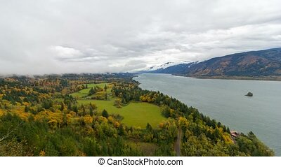 Time lapse of clouds over Cape Horn in WA state fall season...