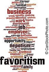 Favoritism-vertical word cloud - Favoritism word cloud...