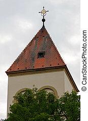 Village church in Baden Wuerttemberg, Pforzheim, Germany, a...