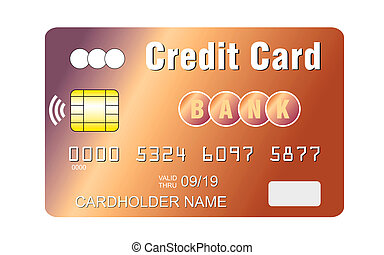 Credit card with contactless payment chip sending wi-fi...