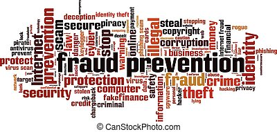 Fraud prevention word cloud