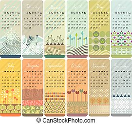 2017 Calendar Set - 2017 Decorative calendar set with...