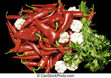 Adjika, red chili pepper - Adjika fresh grated red pepper...