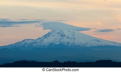 Time lapse of clouds over Mt. Hood in Happy Valley OR 4k -...
