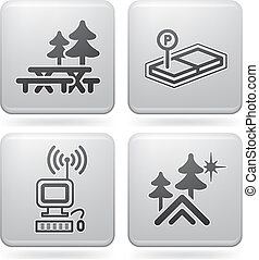 Camping Icons - Various camping icons: Picnic in the area,...