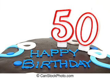 Happy 50th Birthday - A 50th birthday cake for that special...