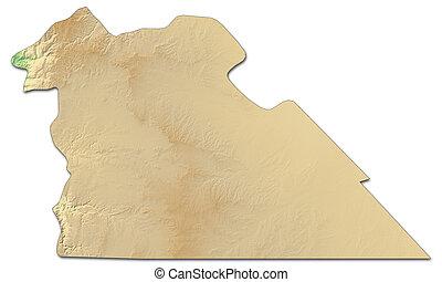 Relief map - Amman (Jordan) - 3D-Rendering - Relief map of...