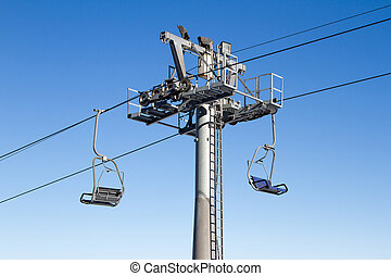 chairlift - ski slope with chair lift in the mountains of...