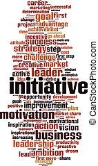 Initiative-vertical.eps - Initiative word cloud concept....