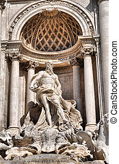 Trevi Fountain, Rome - Baroque Trevi Fountain Fontana di...