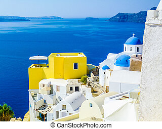 HDR Oia Ia in Greece - High dynamic range (HDR) Oia Ia Apano...